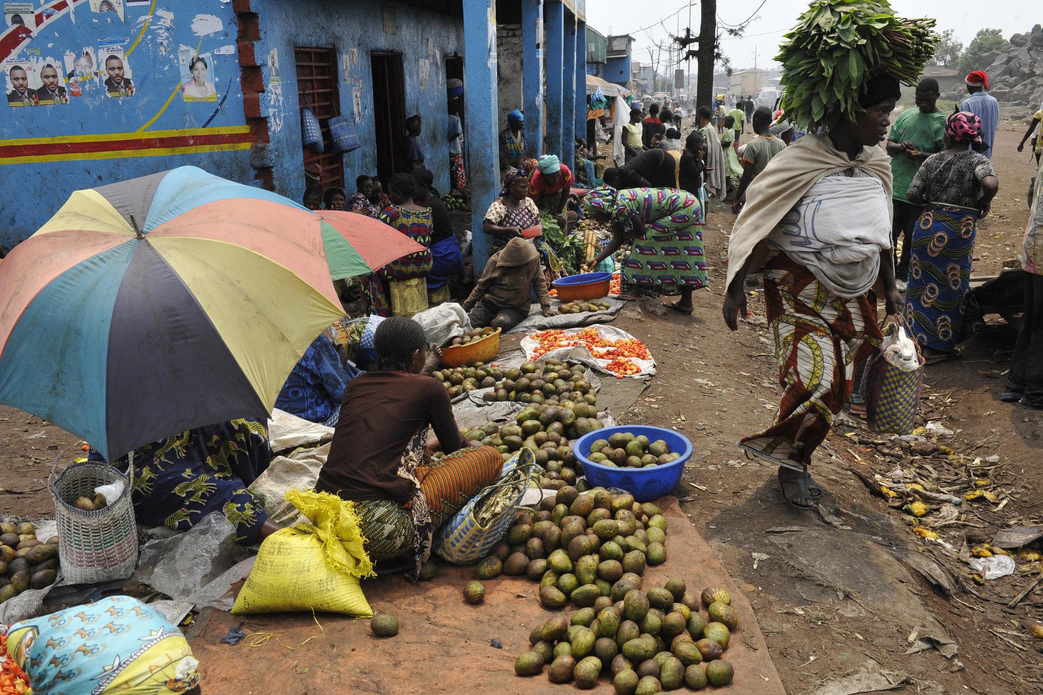 рынок в Конго