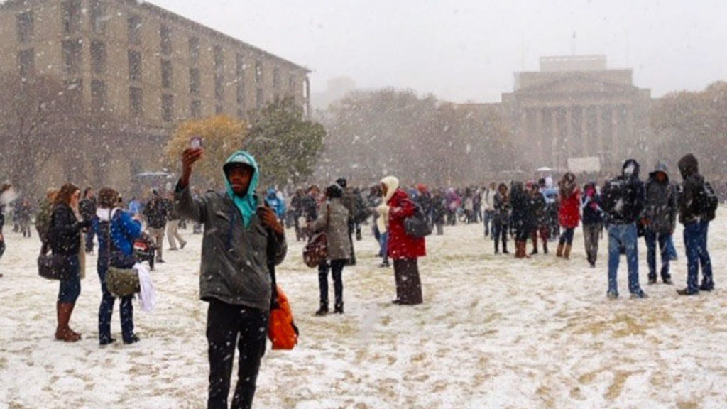 Йоханнесбург в снегу