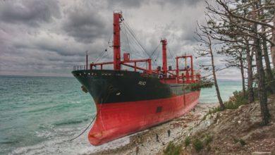 Photo of Севший на мель корабль Рио в Кабардинке (район Геленджика)