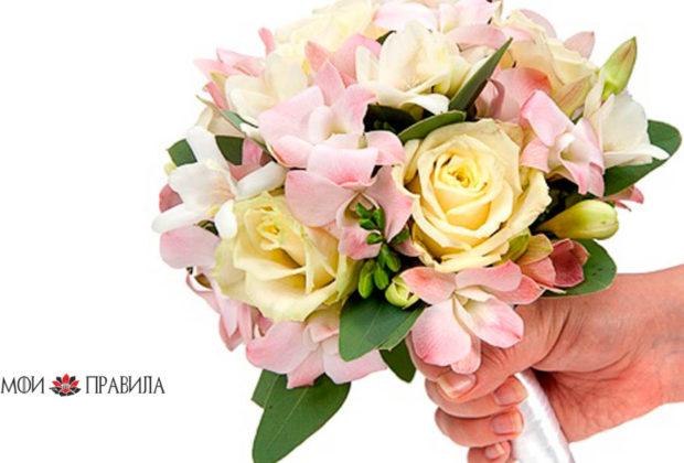 Какие цветы рекомендуется дарить на свадьбе жениху и невесте
