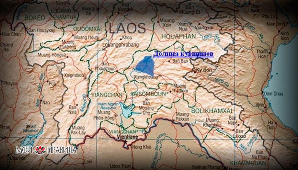 Карта долины кувшинов