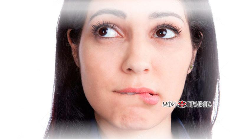к чему чешется губа у девушки
