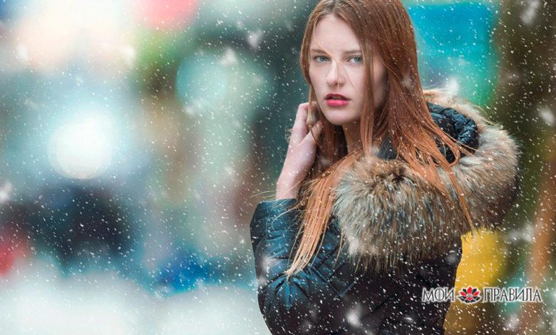 Зима и девушка