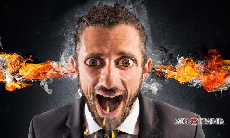 Человек с огнем из ушей